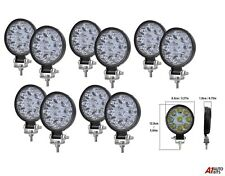10 Pcs Best Quality 27w 9 Led Spot Beam Round Work Lights Lamps Offroad Tractor