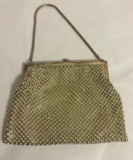 Vintage Whiting And DAVIS Silver Metal Mesh Flapper Hand Bag Purse