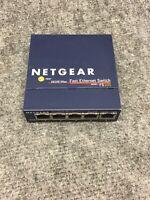 NETGEAR Fast Ethernet Network Switch FS105 V2 5-Port 10/100 No Power Adapter