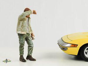 Retro Mechanic Figurine Sweating Joe 1:18 Figurines American Diorama