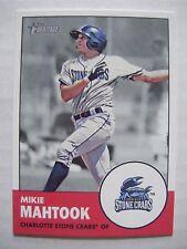MIKIE MAHTOOK 2012 Topps Heritage Minors baseball card #160 QTY RAYS LSU TIGERS