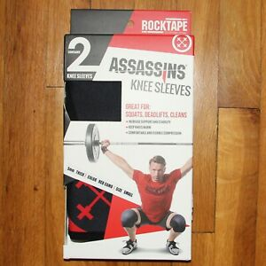 RockTape Assassins 5mm Knee Sleeves Red Camo Small Training Weightlifting Sz S
