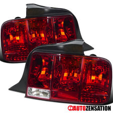 For 2005-2009 Ford Mustang Red Tail Lights Sequential Turn Signal Lamps Pair