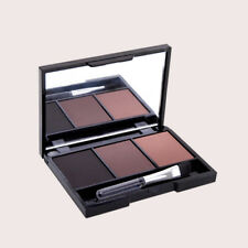 3 Color Eyebrow Powder Pallet Smoky Eyes Eye Shadow Women Makeup Beauty Cosmetic