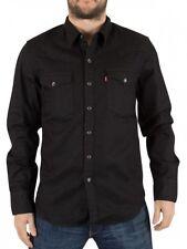 Levi's Mens Classic Barstow Western Denim Shirts, BNWT Black