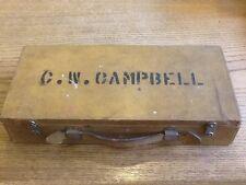 Vintage 1930's dietzgen Drafting Tool leather/ wood box