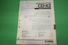 Originale Service Anleitung und Schaltplan Yamaha CD-X2 CD-Spieler!!