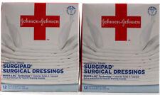 2 Boxes Johnson Hospital Grade Surgipad Surgical Dressings Quick-Loc Technology