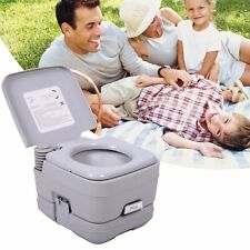 2.6 Gallon Portable Toilet 10L Flush porta-potty Outdoor Indoor Travel Camping