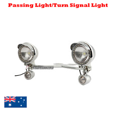 Motorcycle Passing Driving Fog Spot Lights Turn Signal Indicator Touring Chopper
