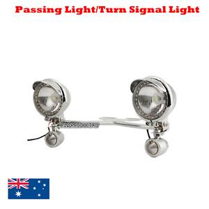 Motorcycle Passing Driving Fog Spot Lights Turn Signal Indicator Touring Chopper