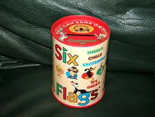 Warner Bros Six Flags Coin Bank Tin Metal Bugs Bunny Taz Marvin Daffy + 1996
