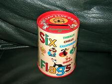 Warner Bros Six Flags Coin Bank Tin Metal Bugs Bunny Taz Marvin Daffy + 1996