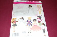 Simplicity Pattern # 1955 - Fashion Doll Clothes Barbie, Bratz, Liv, Moxie - NEW