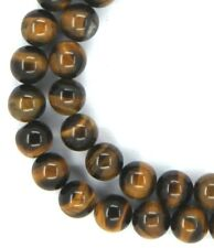 """15.5"""" NATURAL Tiger Eye Round ~50 Beads 8mm K4611"""