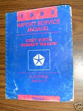 1993  Dodge Colt  Electrical Repair Manual 93 Mopar