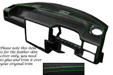 GREEN Stitch accoppiamenti VW T4 Transporter Caravelle CAMPER DASH Dashboard Copertura LTHR