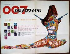 CASINO ROYALE JAMES BOND 1967 JAPANESE B3 MOVIE POSTER 6 PAGE ROBERT McGINNIS