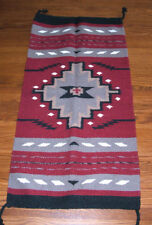 """Throw Rug Tapestry Southwestern Thick Hand Woven Wool 20x40""""   #211"""