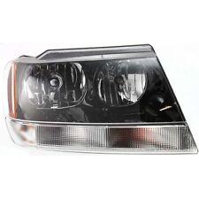 Headlight For 99-2004 Jeep Grand Cherokee Passenger Side w/ bulb