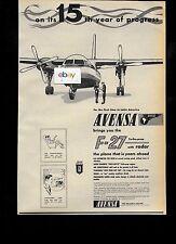 AVENSA AEROVIAS VENEZOLANAS S.A.11/1959 F-27 AD & OAG GUIDE SCHEDULE DC-6B CV440