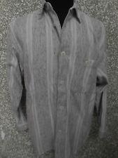 180 M5 SIGNUM Camicia di marca TGL S We ISS grigio nero manica lunga righe
