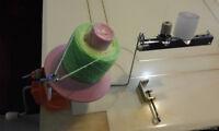 Wool Winder with Yarn Tension & Wax Stand for Knitting Machine Yarn Ball Winding