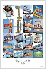 Signs of Route 66 By Day Poster - 24 x 36