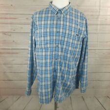 Oakley Men's Blue Plaid Vented Fishing Hiking Outdoor Shirt XXL