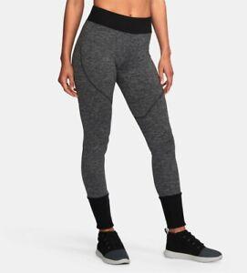 Under Armour Joggers Women's Athletic Pants Size M Heather Gray/Black