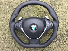 BMW X5 X6 E70 E71 SPORT NEW CUSTOM MADE FLAT BOTTOM STEERING WHEEL