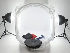 studio par 80 cm Cube lumineux Tente de lumière 2 x trépieds Lampe lot 4