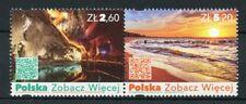 Poland 2018 MNH Tourism 2v Se-tenant Set Landscapes Beaches Caves Stamps