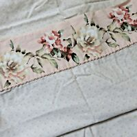 Croscill Savoir Faire Retired Full Size Set Of Sheets 4 Pillowcases Peach Floral