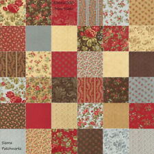 "ROSEWOOD Charm Pack from MODA - (42) 5"" factory-cut squares - 44180PP"