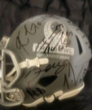 2020 NFL PRO BOWL MINI HELMET SIGNED DREW BREES+RYAN TANNEHILL W/COA+PROOF RARE