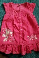 girl pink 12-18 months winter autumn summer corduroy dress Minnie mouse disney