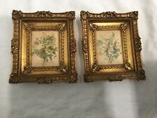 Artitalia Square Gold Frames With Floral Design Inserted