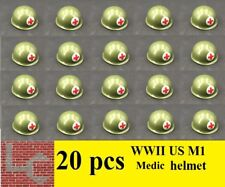 LC Brique seconde guerre mondiale (2) 20 US M1 Medic casque soldat WWII WW2 Armée Accessoire