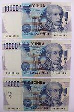 3x 10000 lire diecimila ITALY banconote 1984 buone condizioni good condition Bill