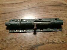 Vintage Sliding Bolt Door Lock w/ Catch heavy duty lot 1