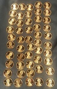 1992 S LINCOLN CENT GEM DCAM PROOF from PROOF Sets 50 COINS
