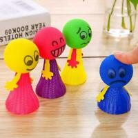 Bouncing Doll Toys Funny Faces Novelties Jumping Dolls Toy Kids New Plastic B4T9