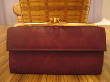 """Vintage Rolfs Burgundy American Classic Leather Double Clutch Wallet """"Rare"""" New"""""""