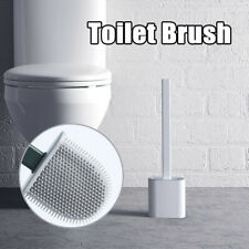 Silicone Toilet Brush with Toilet Brush Holder Creative Cleaning Brush Set