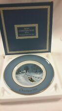 "1976 Avon Third Edition Christmas Collector Plate ""Bringing Home The Tree"""