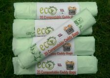 100 x 7L Compostable Caddy Liners - 7 litre Caddy bags for food waste