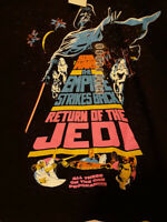 Star Wars Trilogy Movie Poster Large T Shirt Black Retro Look Mens/Womens LG