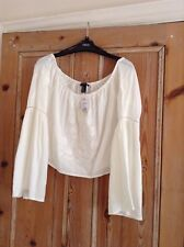 Forever 21 Cream Crop Top - Size M