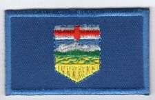 Alberta Provincial Flag Patch Embroidered Iron On Applique